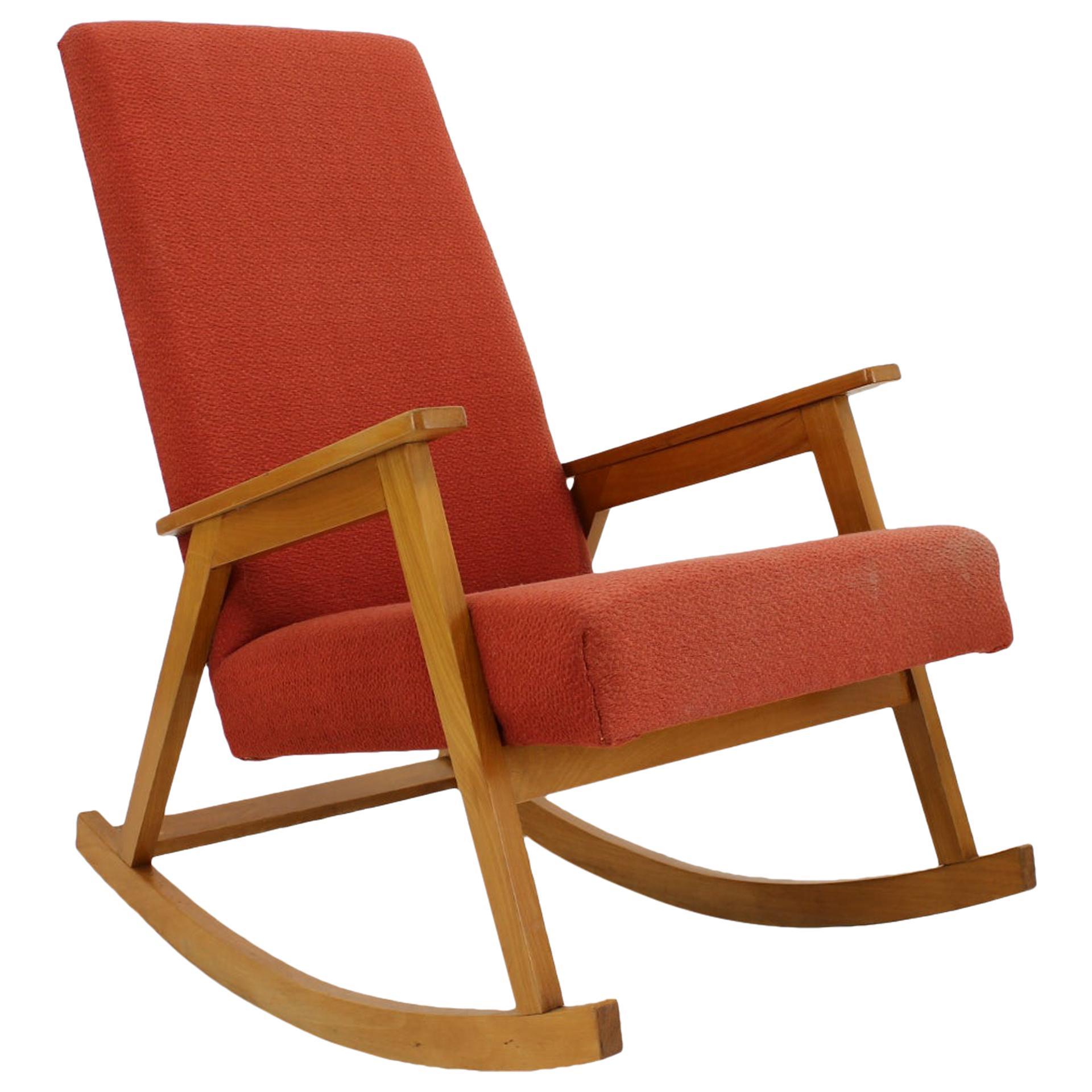 1960s Rocking Chair, Czechoslovakia