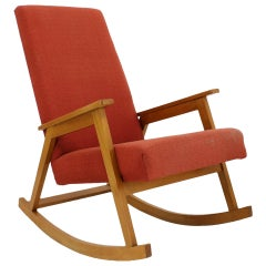 1960s Rocking Chair, Czechoslovakia