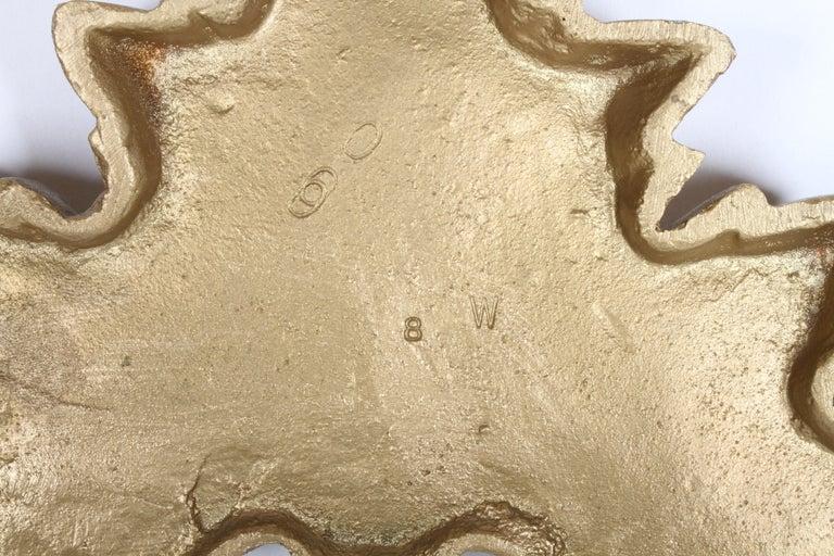 1960s Rococo Style Italian Gold Metal Full Size Headboard For Sale 3