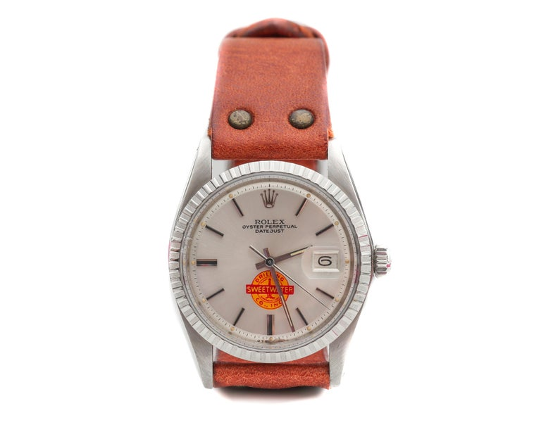 1960s Rolex Datejust with Sweetwater Dial For Sale 1