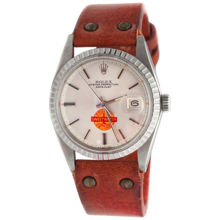 1960s Rolex Datejust with Sweetwater Dial For Sale
