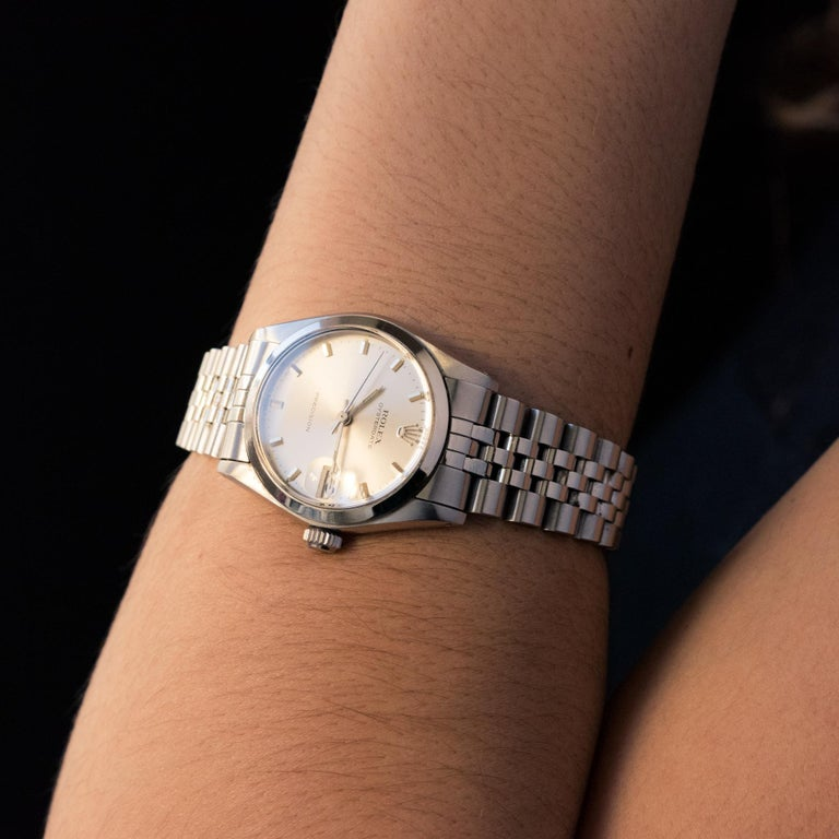 1960s Rolex Oysterdate Precision Automatic Men's Watch In Good Condition For Sale In Poitiers, FR