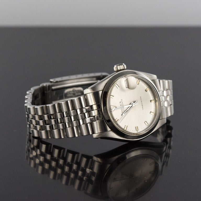 1960s Rolex Oysterdate Precision Automatic Men's Watch For Sale 5