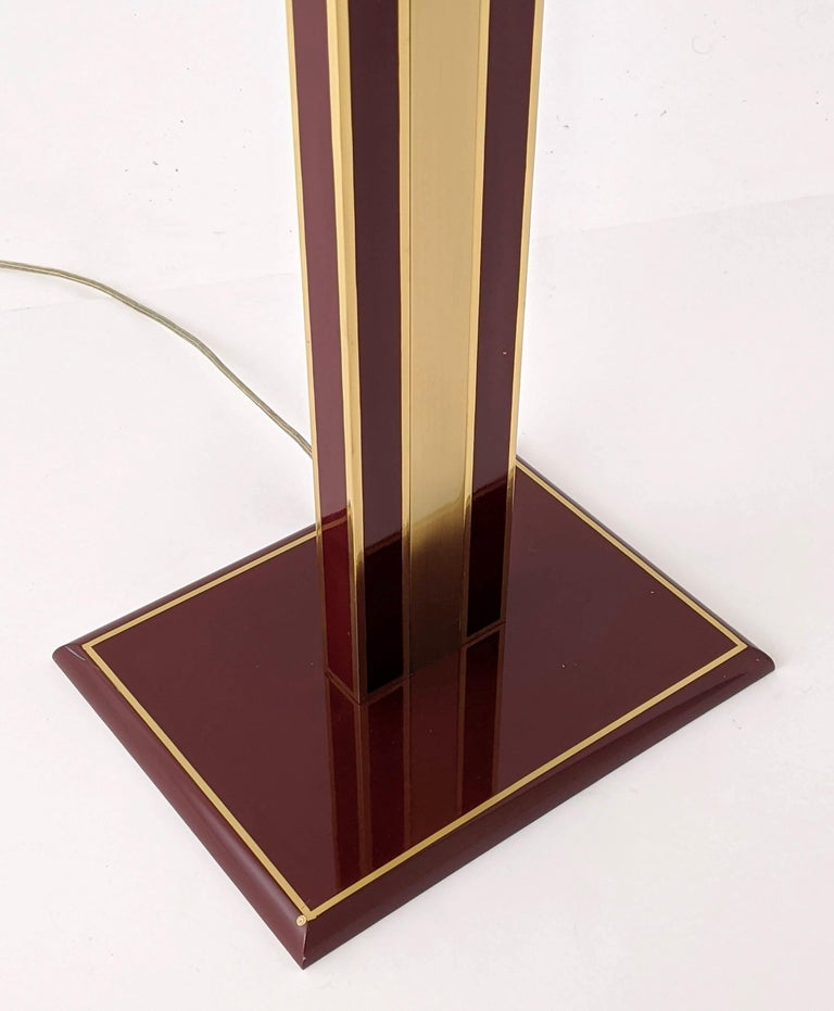 1960s Romeo Rega Massive Brass Floor Lamp, Italia For Sale 3
