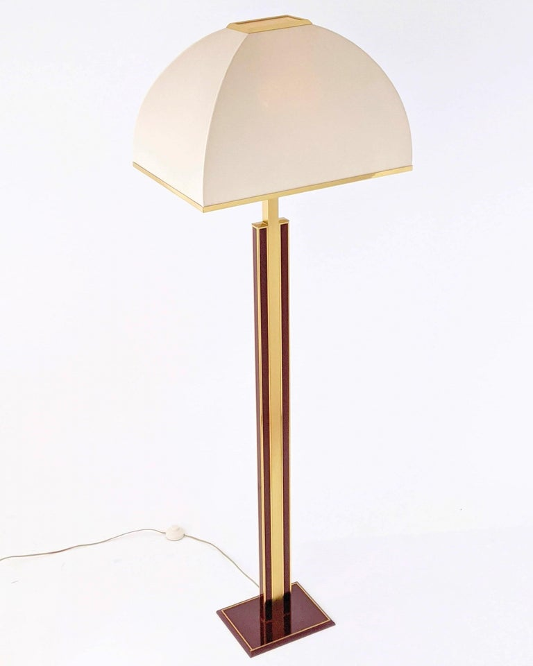1960s Romeo Rega Massive Brass Floor Lamp, Italia For Sale 6