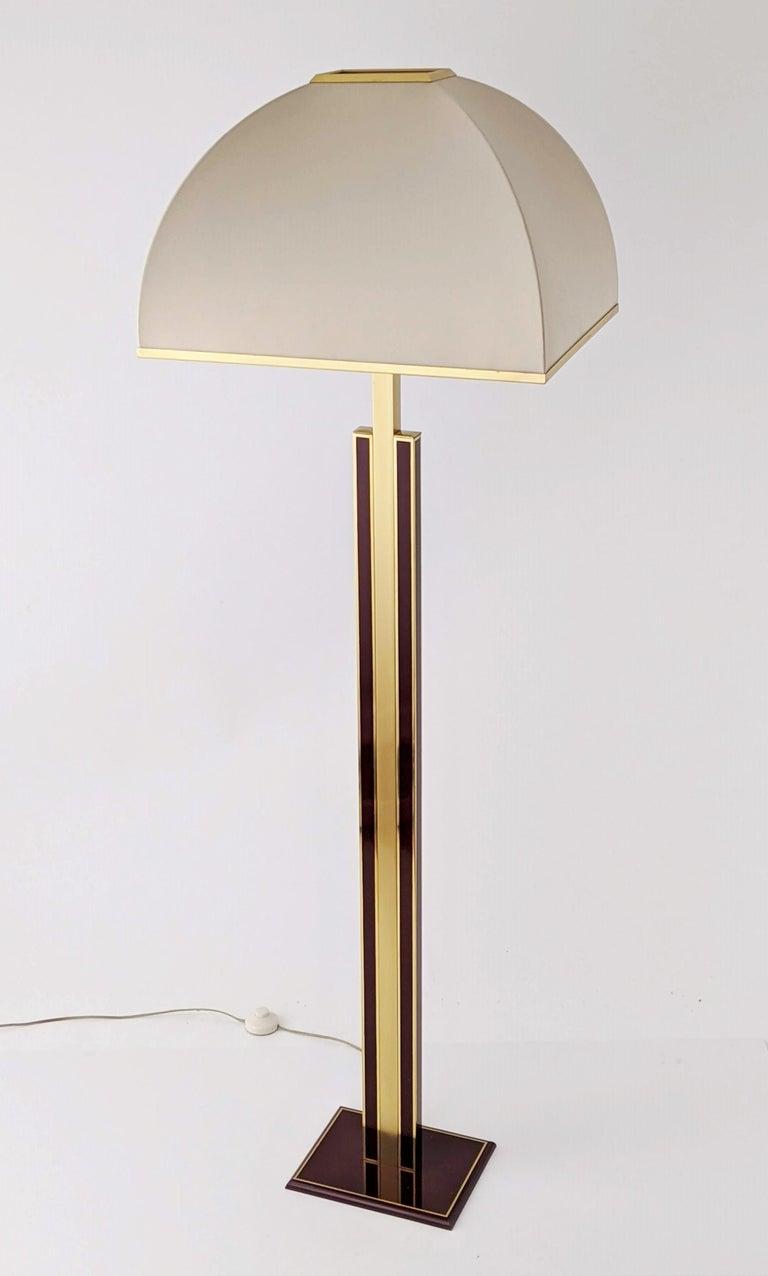 Mid-Century Modern 1960s Romeo Rega Massive Brass Floor Lamp, Italia For Sale