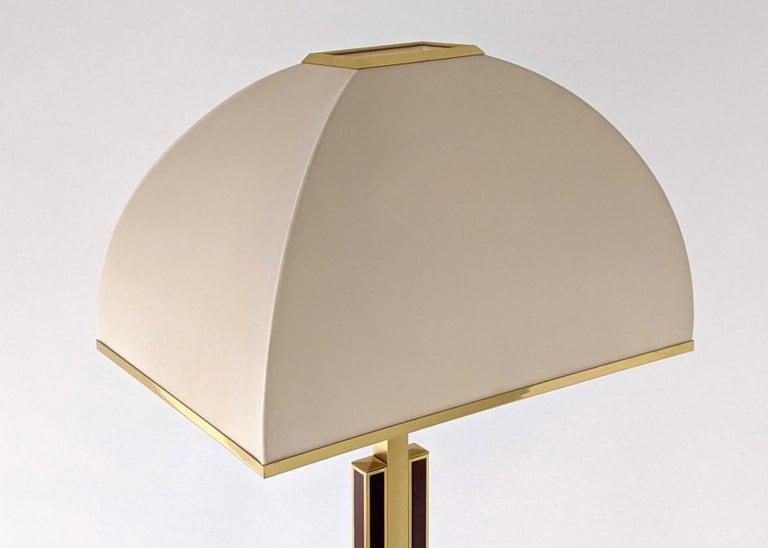 1960s Romeo Rega Massive Brass Floor Lamp, Italia For Sale 1