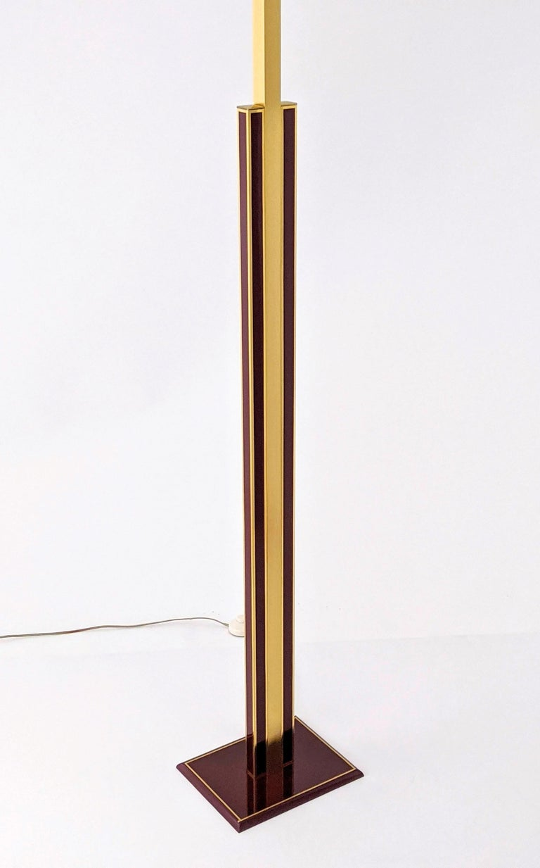 1960s Romeo Rega Massive Brass Floor Lamp, Italia For Sale 2