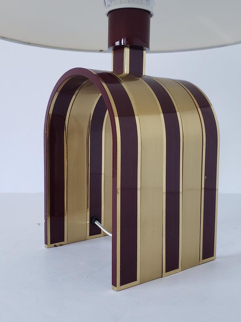 Italian 1960s Romeo Rega Solid Brass Table Lamp, Italia For Sale