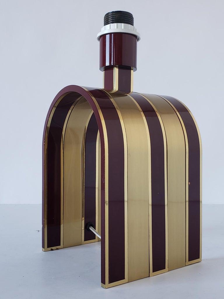 1960s Romeo Rega Solid Brass Table Lamp, Italia In Good Condition For Sale In St- Leonard, Quebec