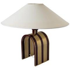 1960s Romeo Rega Solid Brass Table Lamp, Italia