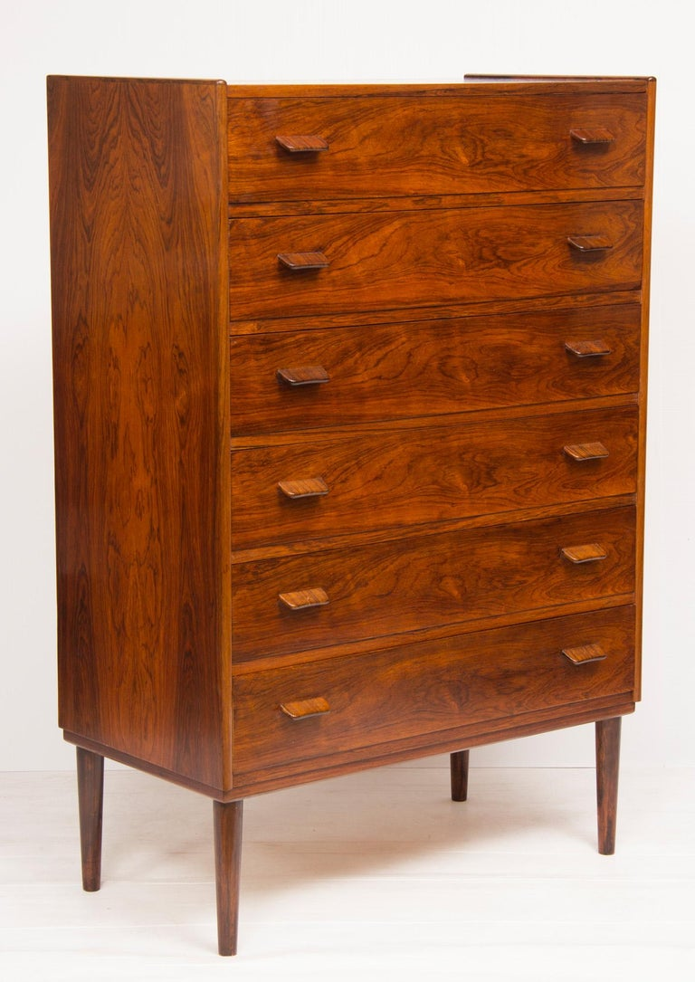 1960s rosewood Danish chest of drawers by Poul Volther.