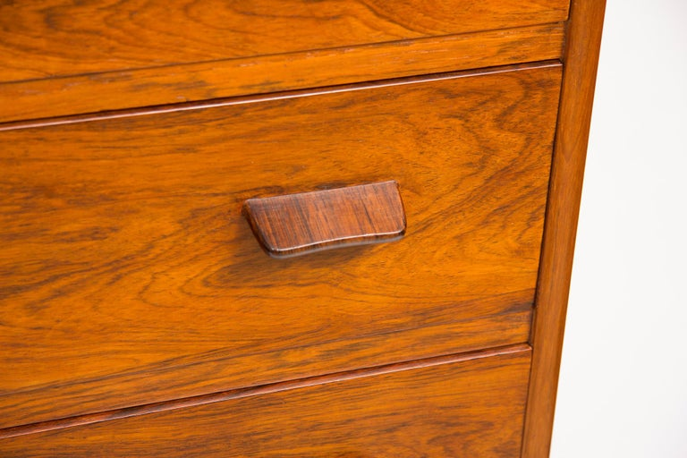 Mid-Century Modern 1960s Rosewood Danish Chest of Drawers by Poul Volther For Sale