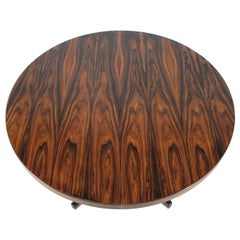 1960s Round Palisander Extendable Dining Table, Denmark
