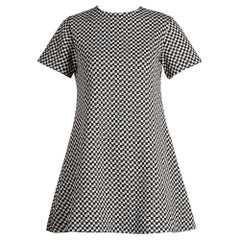 1960s Rudi Gernreich/ Harmon Knitwear Vintage Mod B&W Checker Mini Dress
