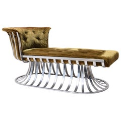 1960s Russell Woodard Aluminum Chaise Lounge