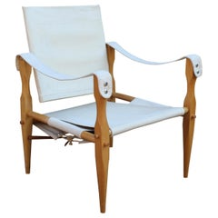 1960s 'Safari' Chair Wilhelm Kienzle Canvass Seat, Back and a Beech Frame