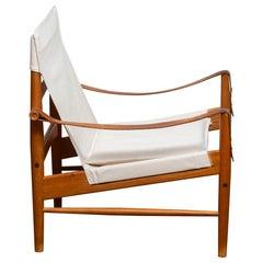 1960s, Safari Lounge Chair by Hans Olsen for Viska Möbler in Kinna, Sweden 1