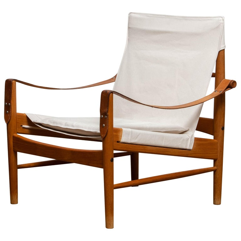 1960s, Safari Lounge Chair by Hans Olsen for Viska Möbler in Kinna, Sweden 1960s