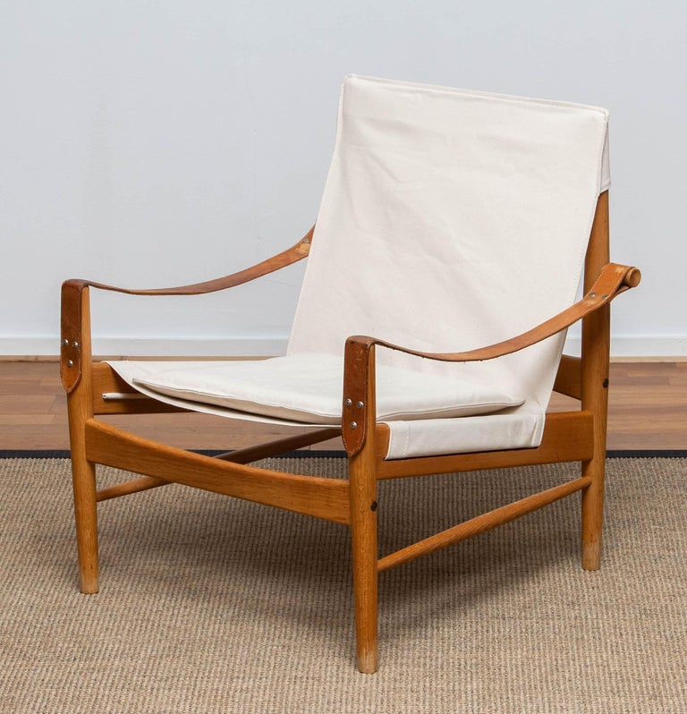 Swedish 1960s, Safari Lounge Chair by Hans Olsen for Viska Möbler in Kinna, Sweden