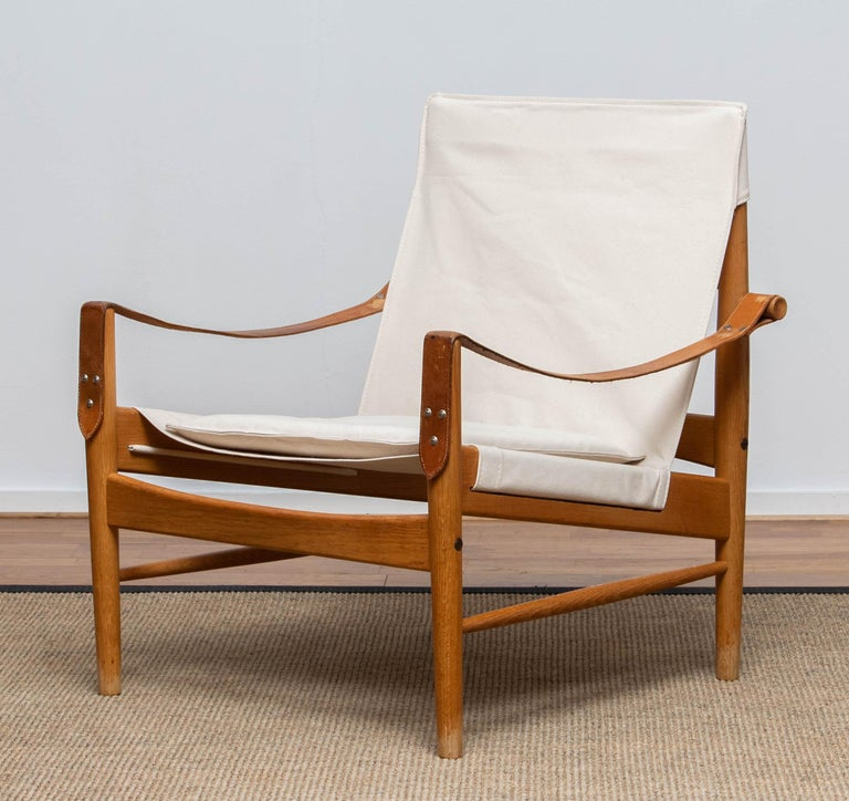 1960s, Safari Lounge Chair by Hans Olsen for Viska Möbler in Kinna, Sweden In Good Condition In Silvolde, Gelderland