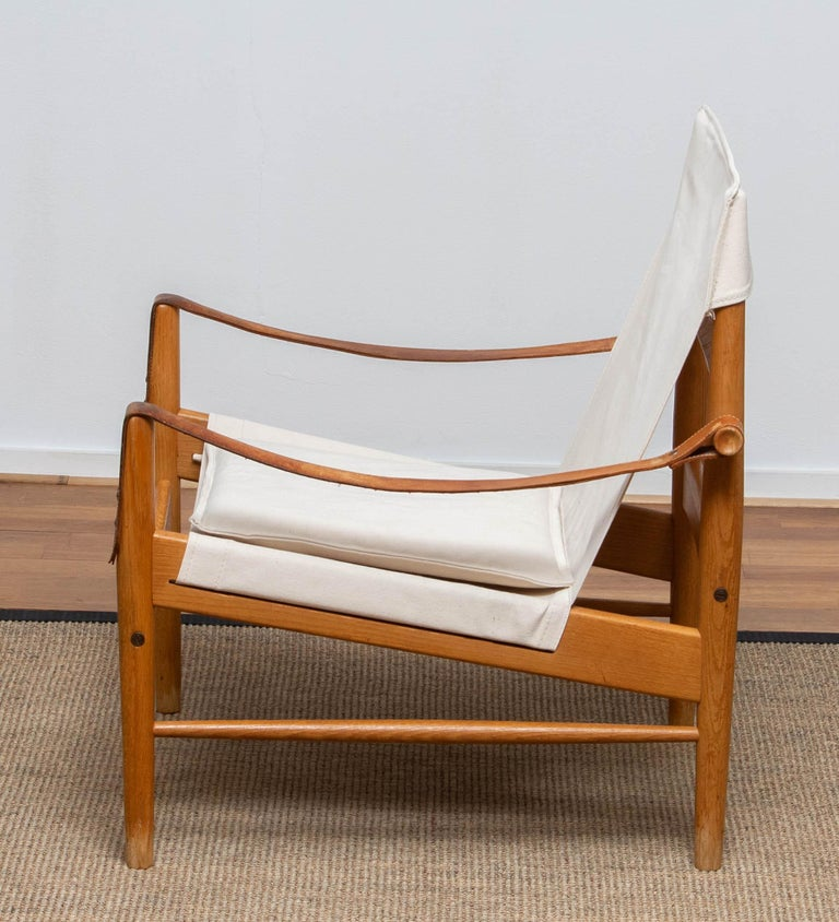 Mid-20th Century 1960s, Safari Lounge Chair by Hans Olsen for Viska Möbler in Kinna, Sweden