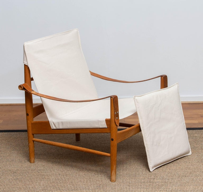 1960s, Safari Lounge Chair by Hans Olsen for Viska Möbler in Kinna, Sweden 2