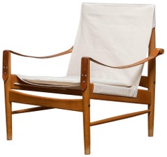 1960s, Safari Lounge Chair by Hans Olsen for Viska Möbler in Kinna, Sweden