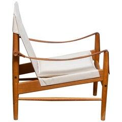 1960s, Safari Lounge Chair by Hans Olsen for Viska Möbler in Kinna, Sweden