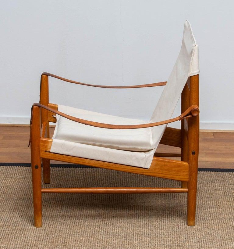 Mid-20th Century 1960s, Safari Lounge Chair by Hans Olsen for Viska Möbler in Kinna, Sweden 1960s