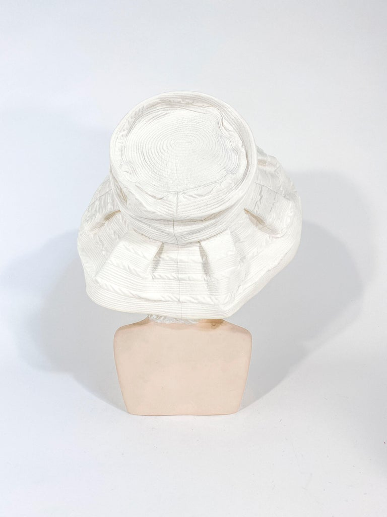 Gray 1960s Saks Fifth Ave Off-White Fashion Hat For Sale