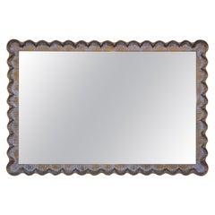1960s Scalloped Oversize Italian Mirror