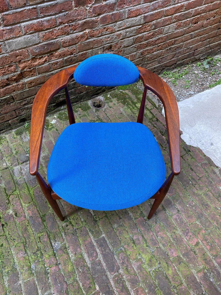 Upholstery 1960s Adrian Pearsall for Craft Associates 950-C Upholstered Armchair For Sale