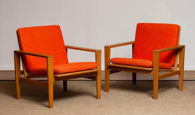 1960s Scandinavian Lounge Easy Chair in Oak / Leather by Erik Merthen for Ire 5