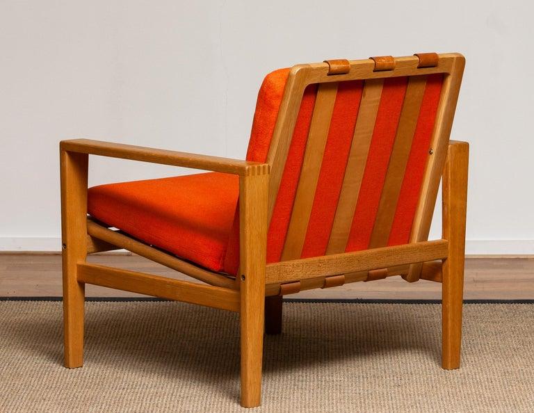 Scandinavian Modern 1960s Scandinavian Lounge Easy Chair in Oak / Leather by Erik Merthen for Ire