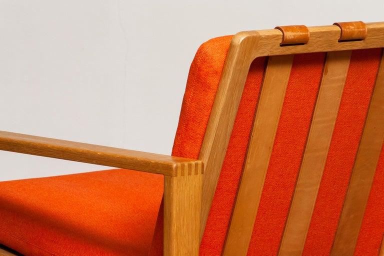 Swedish 1960s Scandinavian Lounge Easy Chair in Oak / Leather by Erik Merthen for Ire