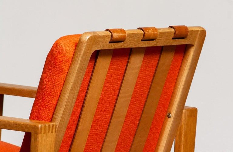 1960s Scandinavian Lounge Easy Chair in Oak / Leather by Erik Merthen for Ire In Good Condition In Silvolde, Gelderland