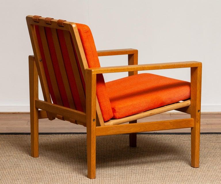 Mid-20th Century 1960s Scandinavian Lounge Easy Chair in Oak / Leather by Erik Merthen for Ire