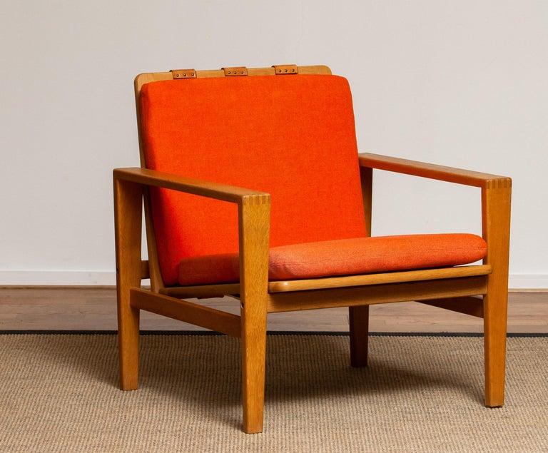 1960s Scandinavian Lounge Easy Chair in Oak / Leather by Erik Merthen for Ire 1