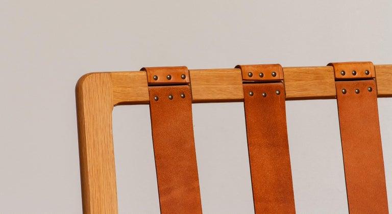 1960s Scandinavian Lounge Easy Chair in Oak / Leather by Erik Merthen for Ire 2