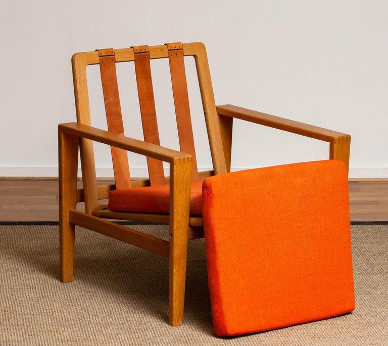 1960s Scandinavian Lounge Easy Chair in Oak / Leather by Erik Merthen for Ire 3