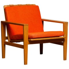 1960s Scandinavian Lounge Easy Chair in Oak / Leather by Erik Merthen for Ire.2