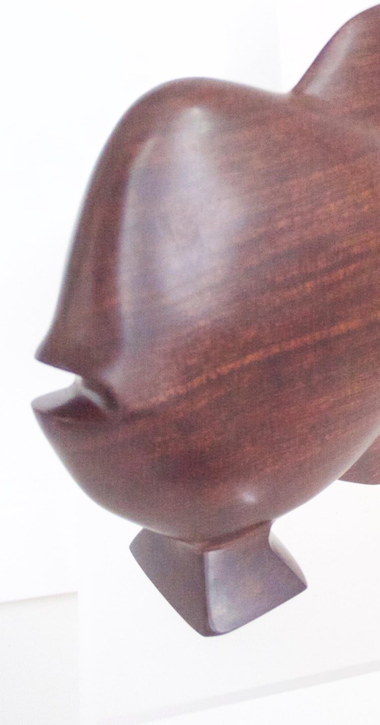 1960s Scandinavian Modern Ironwood/Rosewood Sculpture of a Fish, Late 1950s For Sale 1