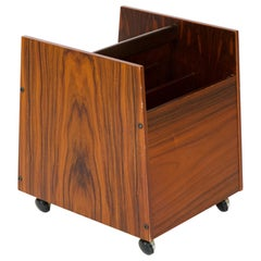 1960s Norwegian Rosewood Magazine Caddy