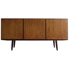 1960s Scandinavian Rosewood Midcentury Modern Sideboard