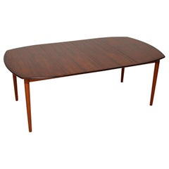 1960s Scandinavian Wooden Dining Table by Rastad & Relling