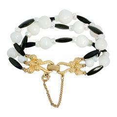 1960s Schiaparelli Lucite Beaded Bracelet