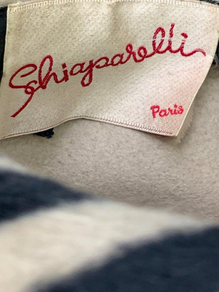 1960s Schiaparelli Paris Mod Zebra Striped Fedora w/ Eyelet and Lacing Details.  For Sale 8