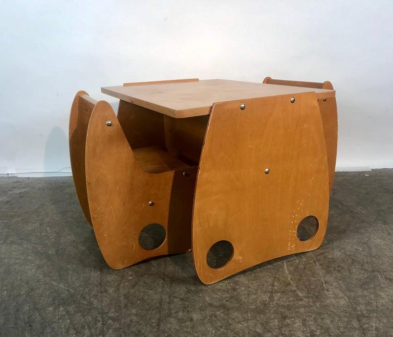 Mid-Century Modern 1960s Sculptural Plywood Children's Set by Hans Mitzlaff and Albrecht Lange
