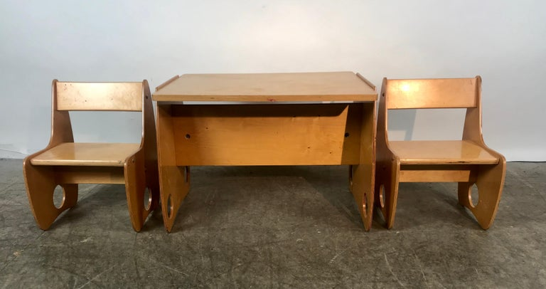 Russian 1960s Sculptural Plywood Children's Set by Hans Mitzlaff and Albrecht Lange